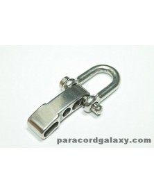 Quick Release - ADJUSTABLE Heavy Duty Stainless Steel U Shackle w/ Clevis Pin