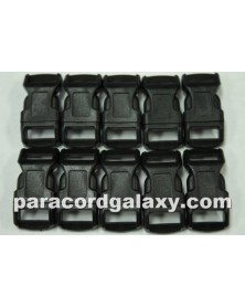 "10 PACK  -  1/2"" - Black - Side Release Buckles"