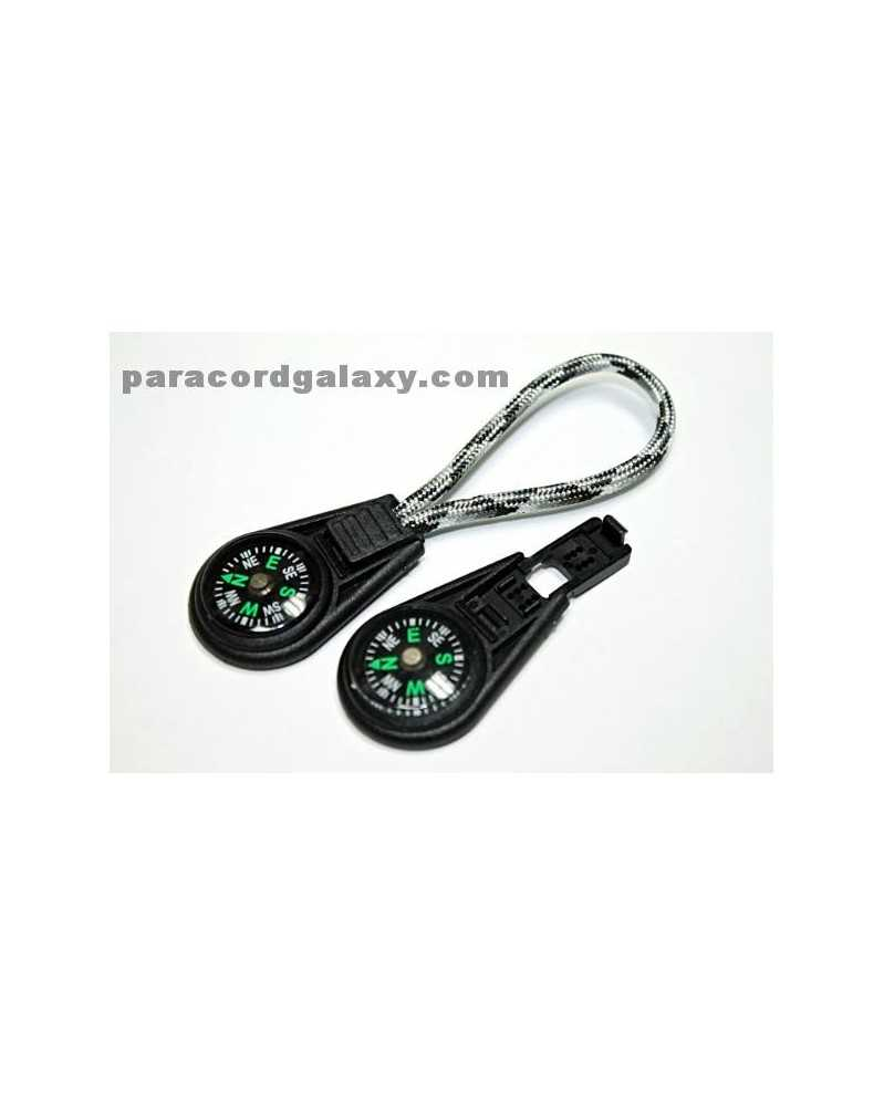 SINGLE - Compass Zipper Pull/Key Fob for Paracord