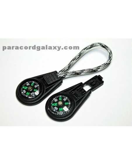 Compass Zipper Pull/Key Fob for Paracord