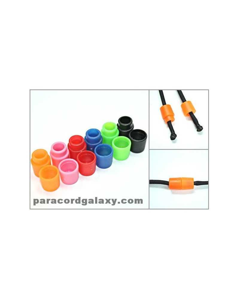 Pop Barrel Connectors for Paracord - 100 PACK (50 Black & 50 Mixed Colors)