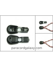 10 PACK - Oblong Zipper Pull/Cord-End for Paracord & Bungee/Shock Cord