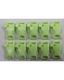"10 PACK - 1/2"" - GLOW in the DARK WHISTLE - Side Release Buckles"