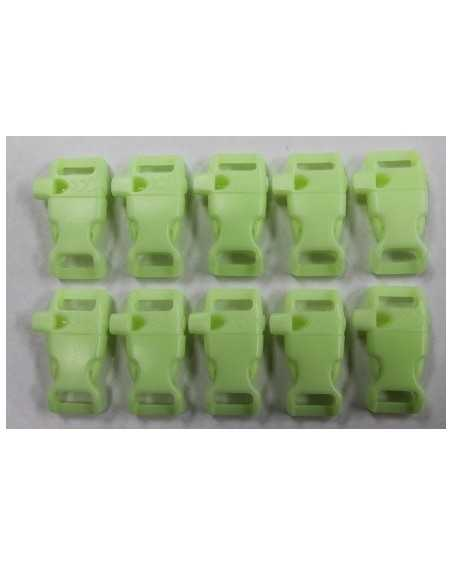 1/2 IN - GLOW in the DARK WHISTLE - Side Release Buckles
