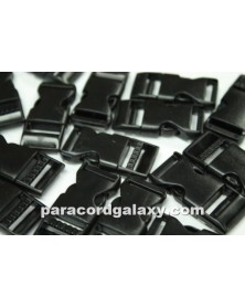 "10 PACK  -  3/4"" - Flat BLACK - Side Release Buckles"