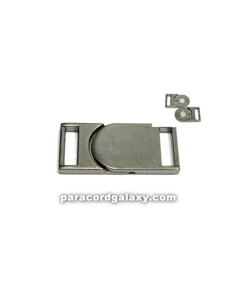"""SINGLE 5/8"""" - Flat Magnetic Buckles - Ancient Black"""