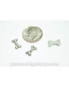 Floating Charm Dog Bone with Clear Jewels