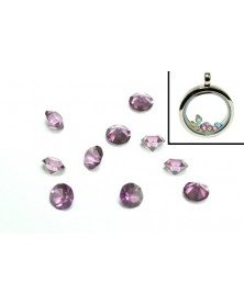 SINGLE - Birthstone Floating Charms Purple