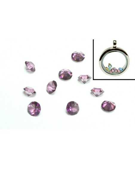 Birthstone Floating Charms Purple