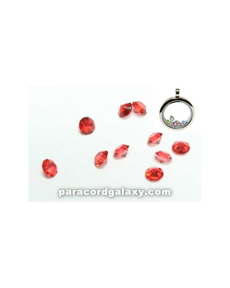 SINGLE - Birthstone Floating Charms Red
