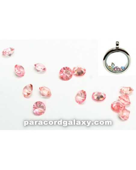 Birthstone Floating Charms Light Pink
