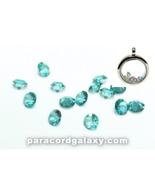 SINGLE - Birthstone Floating Charms Teal Blue