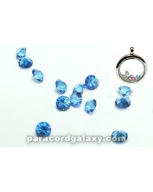 SINGLE - Birthstone Floating Charms Dark Blue