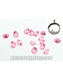 Birthstone Floating Charms Pink