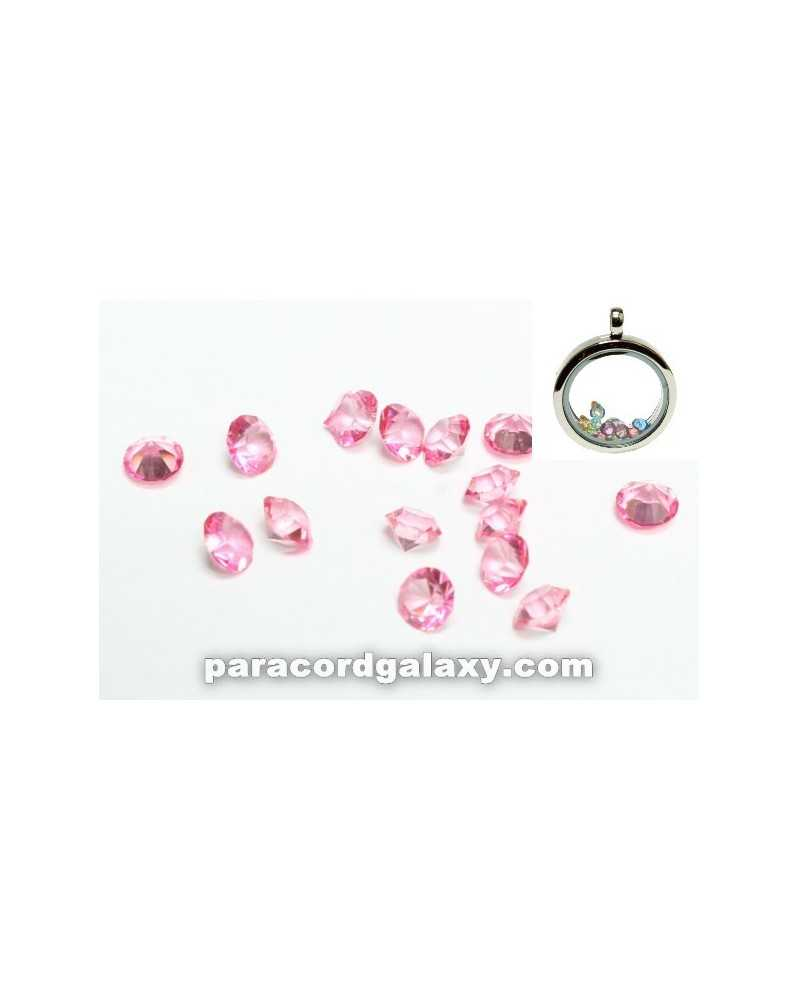 SINGLE - Birthstone Floating Charms Pink