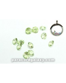 SINGLE - Birthstone Floating Charms Light Green