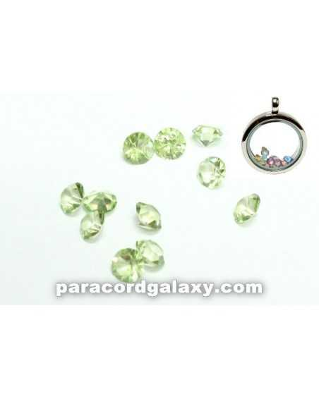 Birthstone Floating Charms Light Green