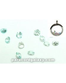 SINGLE - Birthstone Floating Charms Aqua Blue