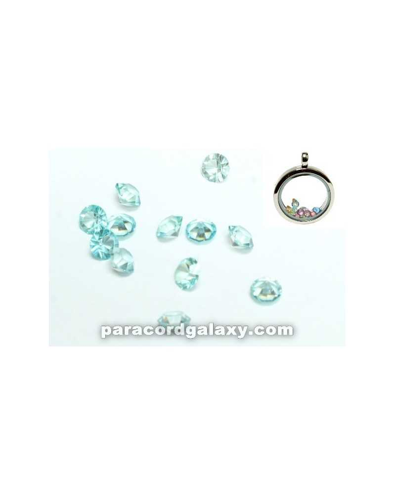 SINGLE - Birthstone Floating Charms Sky Blue