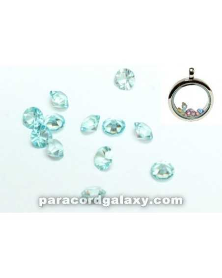 Birthstone Floating Charms Sky Blue