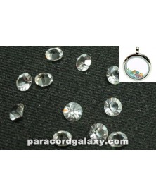 SINGLE - Birthstone Crystal Floating Charms Clear