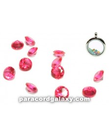 SINGLE - Birthstone Crystal Floating Charms Pink