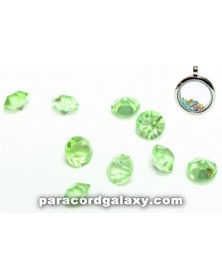 SINGLE - Birthstone Crystal Floating Charms Light Green
