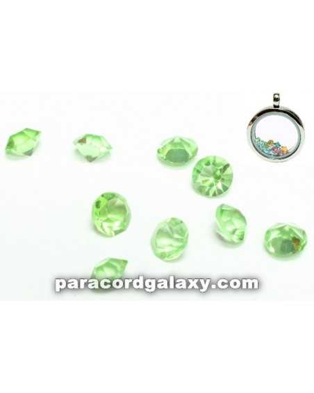 Birthstone Crystal Floating Charms Light Green