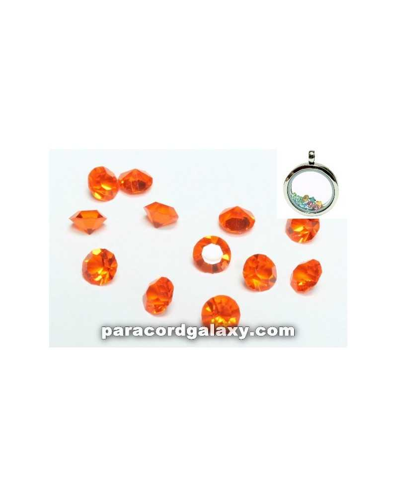 SINGLE - Birthstone Crystal Floating Charms Orange