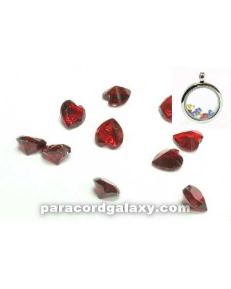 Birthstone Floating Charms Heart Red