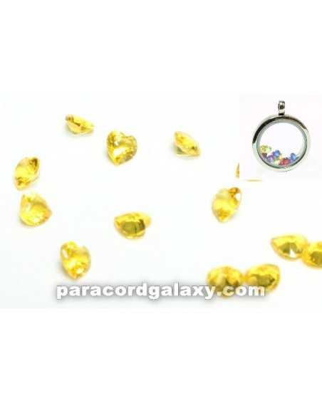 Birthstone Floating Charms Heart Yellow