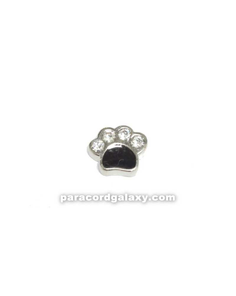 Floating Charm Paw Print Black
