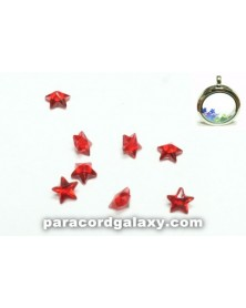 Birthstone Red Crystal Star Floating Charms