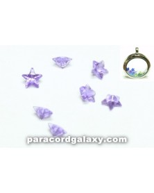 Birthstone Purple Crystal Star Floating Charms