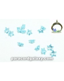 Birthstone Star Floating Charms Sky Blue