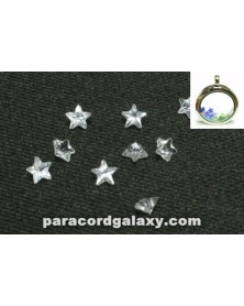 Birthstone Crystal Star Floating Charms Clear