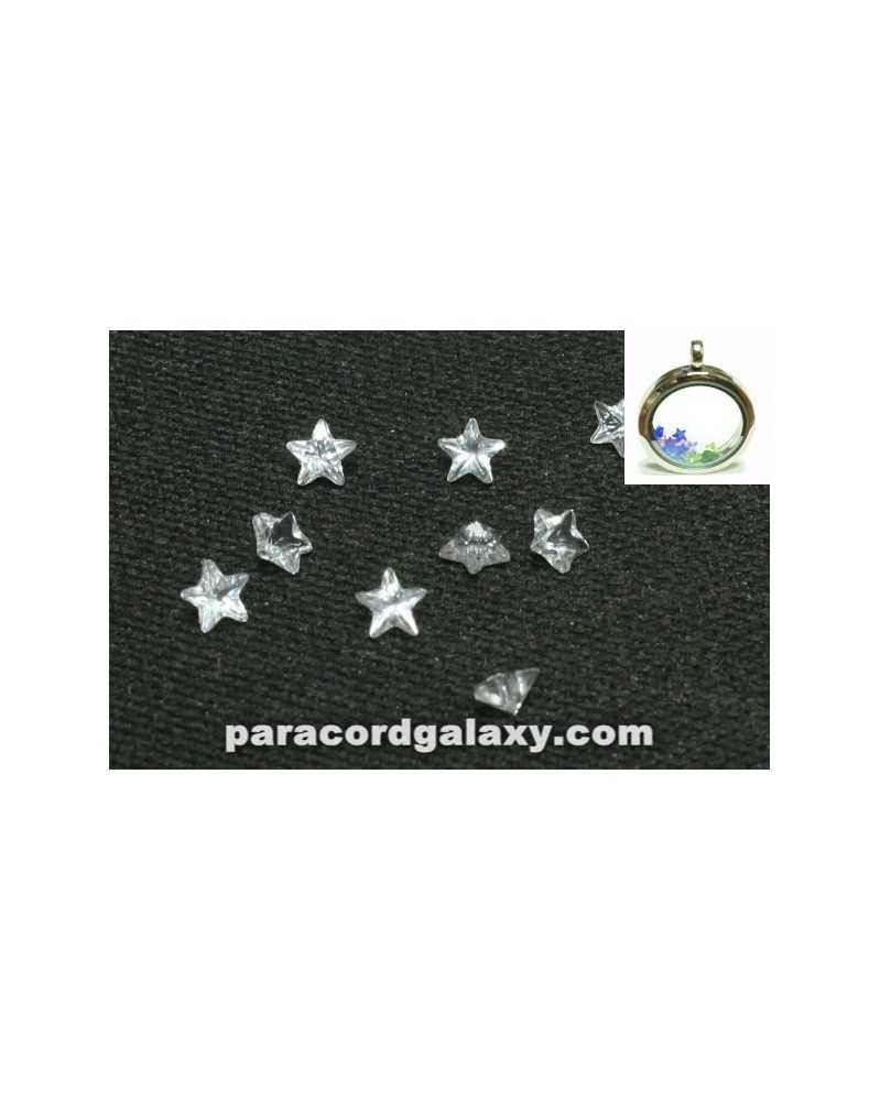 SINGLE - Birthstone Star Floating Charms Clear