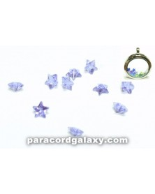 Birthstone Crystal Star Floating Charms Light Purple