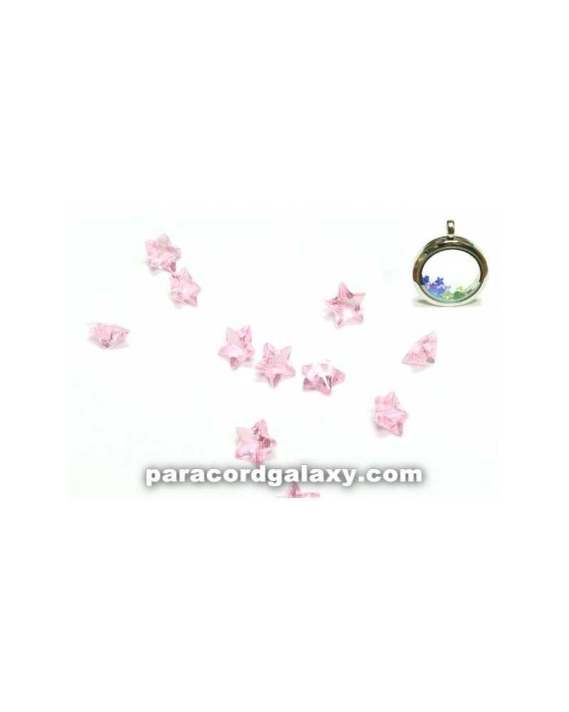 SINGLE - Birthstone Star Floating Charms Light Pink