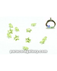 Birthstone Crystal Star Floating Charms Light Green
