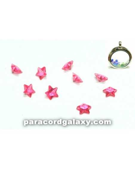 Birthstone Star Floating Charms Pink
