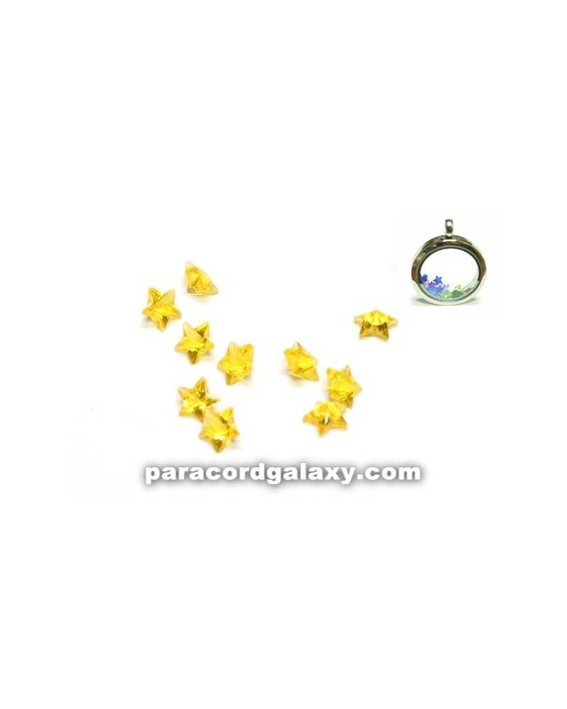 SINGLE - Birthstone Star Floating Charms Yellow