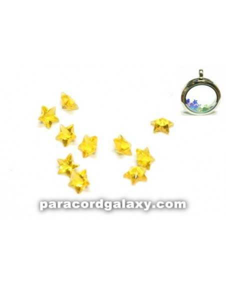 Birthstone Star Floating Charms Yellow