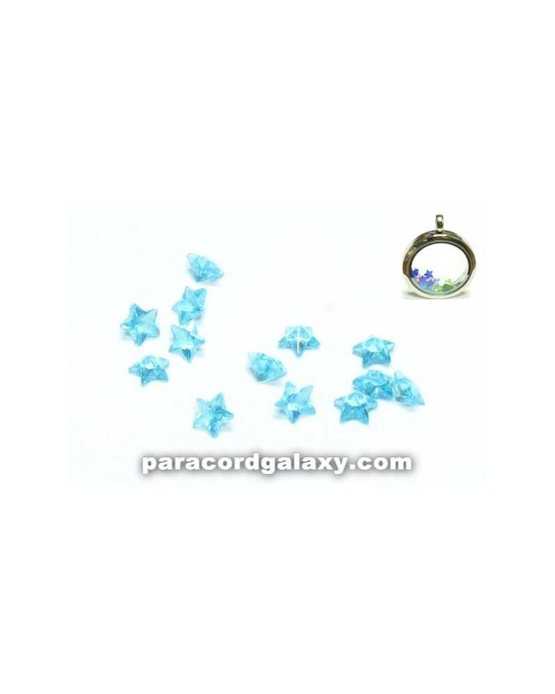SINGLE - Birthstone Star Floating Charms Aqua Blue