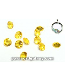 SINGLE - Birthstone Crystal Floating Charms Yellow