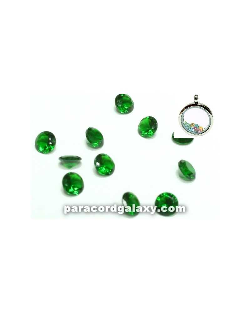 SINGLE - Birthstone Crystal Floating Charms Green