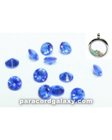 Birthstone Crystal Floating Charms Sapphire Blue