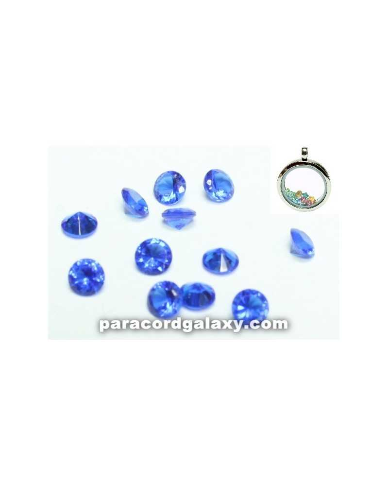 SINGLE - Birthstone Crystal Floating Charms Sapphire Blue