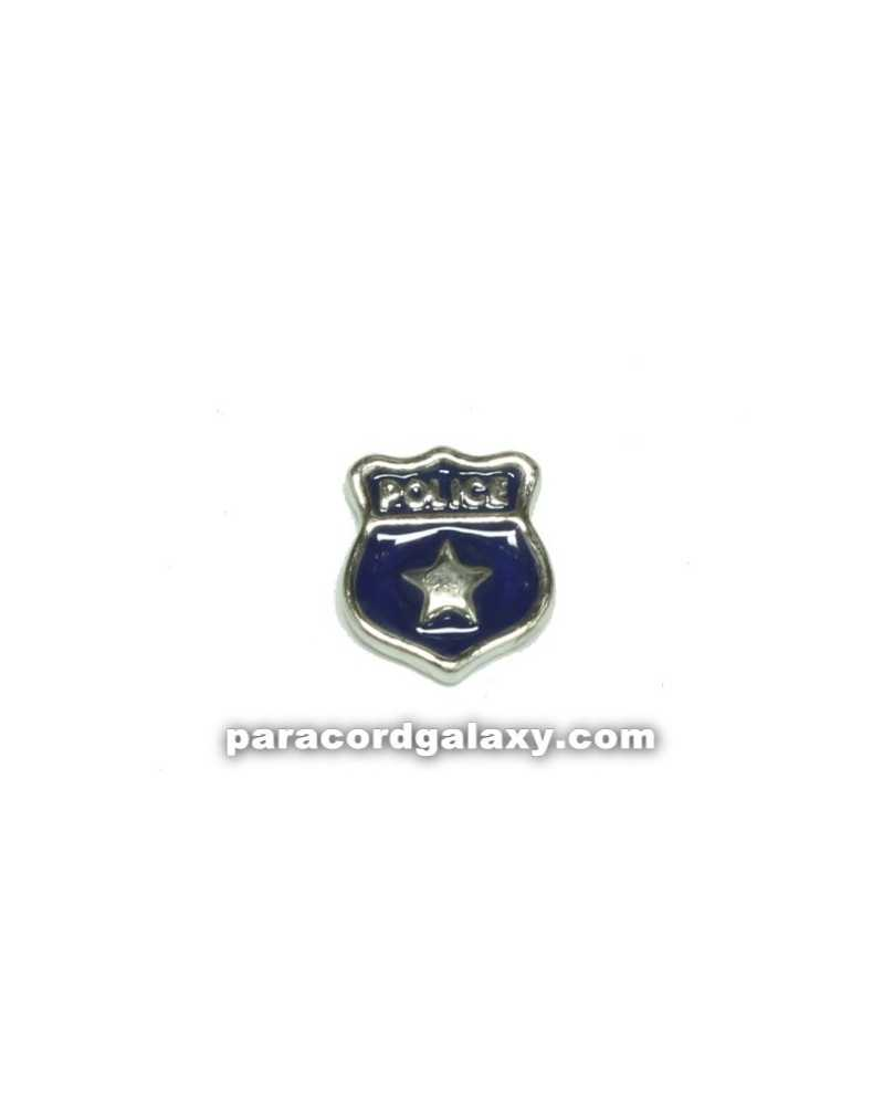 Floating Charm Police Badge