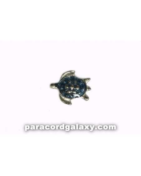 Floating Charm Turtle Blue and Silver